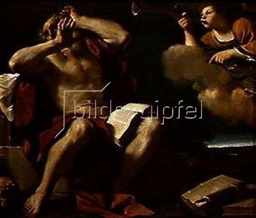 G. Francesco (Guercino) Barbieri: Der hl.Hieronymus hört die Trompeten des Himmels.