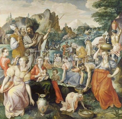 Maerten de Vos: Die Israeliten sammeln das Manna.
