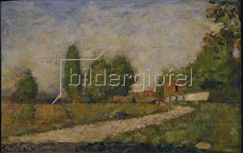 Georges Seurat: Landschaft in der Umgebung von Paris, etwa 1883.
