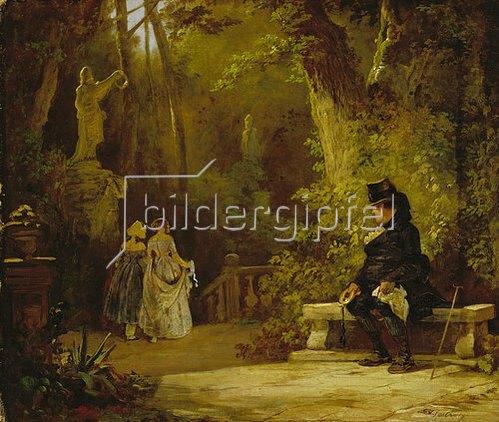 Carl Spitzweg: Der Witwer. Um 1860