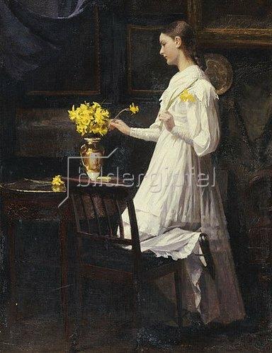 Carl Thomsen: Beim Arrangieren der Osterglocken. 1894