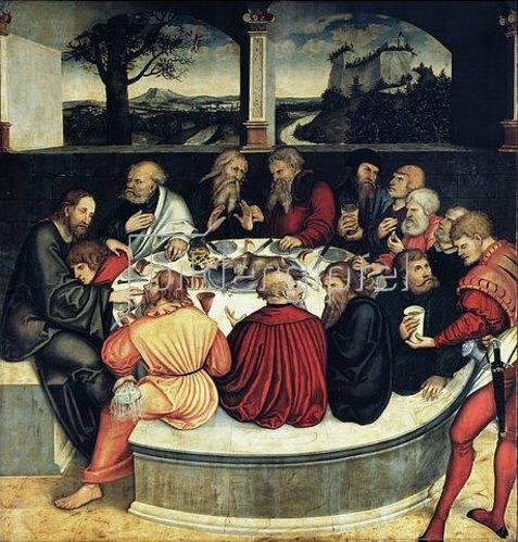 Lucas Cranach d.Ä.: Das letzte Abendmahl. Um 1539.