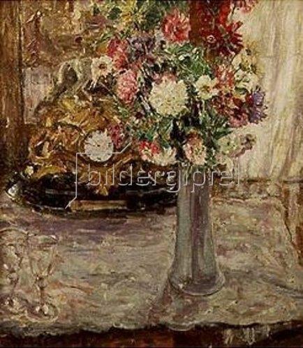 Oskar Moll: Stilleben mit Blumen.