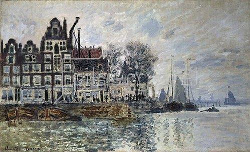 Claude Monet: Ansicht von Amsterdam (Het Kamperhoofd). Um 1874.