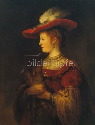 Rembrandt van Rijn: Bildnis der Saskia van Uylenburgh, der Gattin des Künstlers. 1633/34