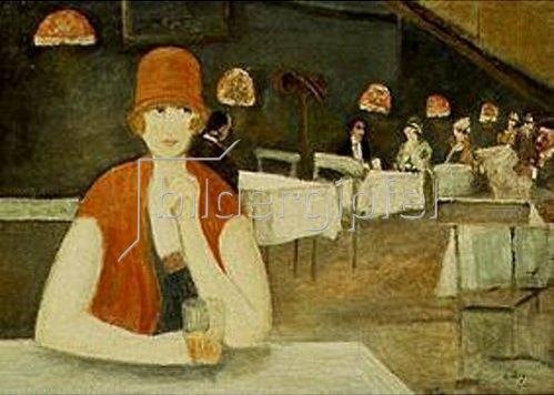 Lesser Ury: Szene im Café.