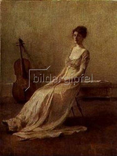 Thomas Wilmer Dewing: La Musicienne.