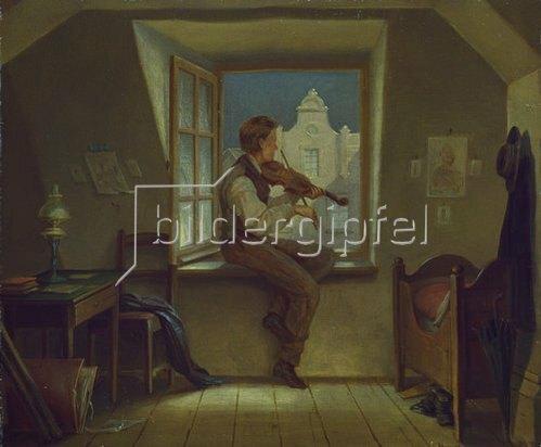 Moritz von Schwind: Der Geigenspieler am Fenster. Um 1860