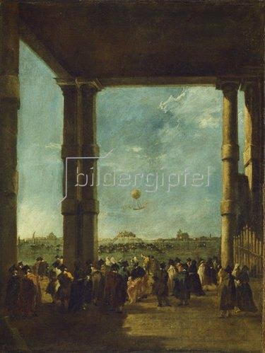 Francesco Guardi: Der Luftballonaufstieg. 1784