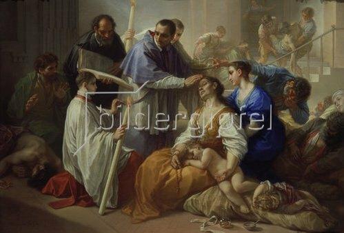 Benedetto Luti: Der heilige Karl Borromäus unter den Pestkranken. 1713