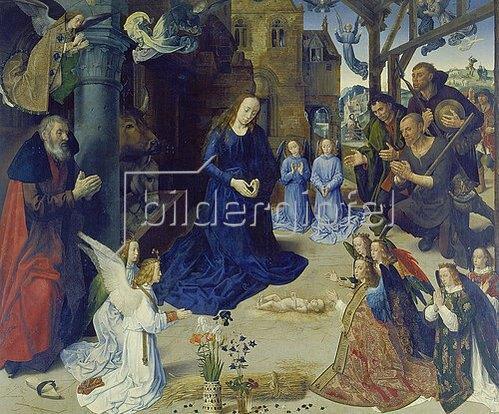 Hugo van der Goes: Portinari-Altar. Mittelbild: Anbetung der Hirten. Ca. 1475-1476