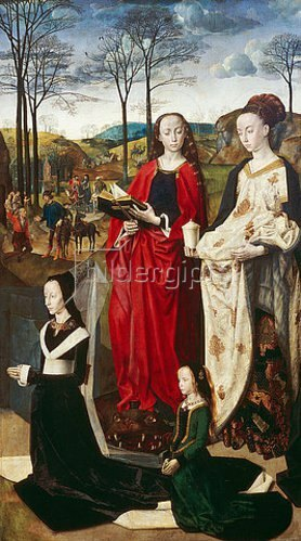 Hugo van der Goes: Portinari-Altar. Rechter Flügel: Die hll.Margarethe und Maria Magdalena