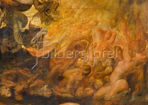 Peter Paul Rubens: Höllensturz der Verdammten. Detail rechts unten.