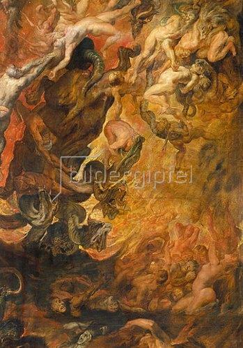 Peter Paul Rubens: Höllensturz der Verdammten. Detail mitte rechts.