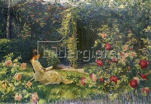 Robert Panitzsch: Im Rosengarten. 1921