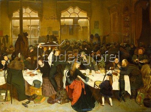 Knut Ekvall: Im Bahnhofs-Restaurant in Warschau. 1873