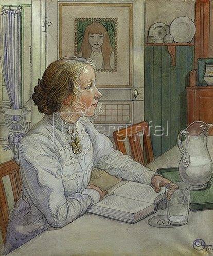 Carl Larsson: Meine älteste Tochter. 1904