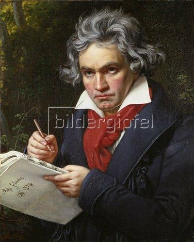 Joseph Karl Stieler: Bildnis Ludwig van Beethoven beim Komponieren der Missa Solemnis, Bonn.