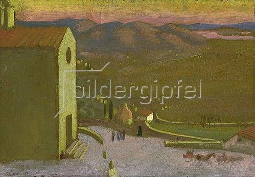 Maurice Denis: Italienische Landschaft (Ansicht von Cortona). 1898