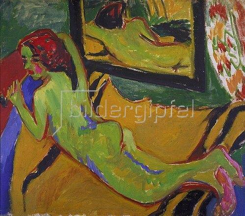 Ernst Ludwig Kirchner: Liegender Akt vor Spiegel. 1909/10