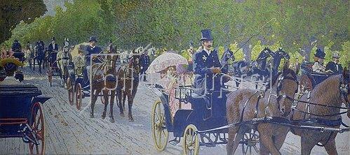 Maximilian Lenz: Praterfahrt in Wien. 1900.