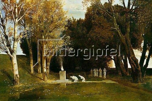 Arnold Böcklin: Heiliger Hain. 1886.