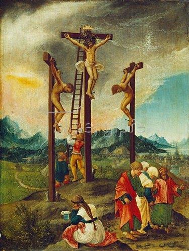 Albrecht Altdorfer: Christus am Kreuz zwischen den beiden Schächern. Um 1526