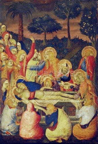 Simone Martini: Die Grablegung Christi. Um 1340