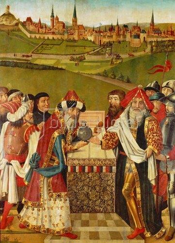 Hans Bornemann: Heiligenthaler Altar mit der ältesten bekannten Ansicht der Stadt Lüneburg (linker Außenflügel).
