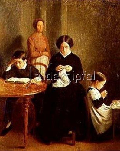 Léon Bonnat: Die Familie des Künstlers. 1893
