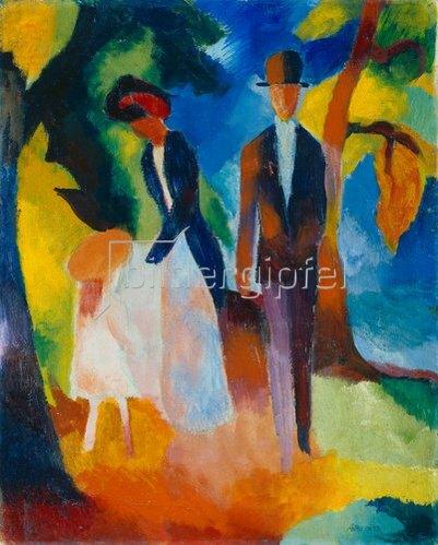 August Macke: Leute am blauen See. 1913
