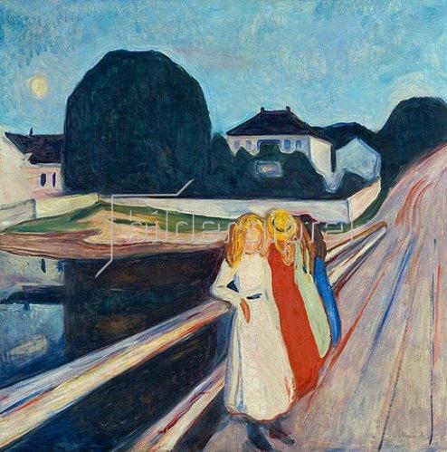 Edvard Munch: Vier Mädchen auf der Brücke. 1905