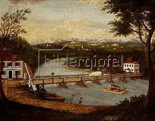 Elias Friedrich Küchlin: Die Illerbrücke in Ferthofen. Um 1815.