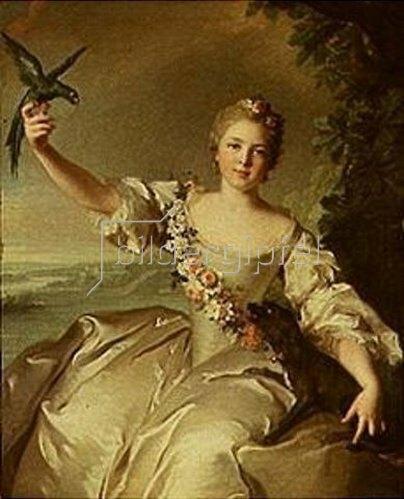 Jean Marc Nattier: Françoise Renée, Marquise d'Antin. 1738.