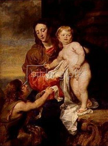 Anthonis van Dyck: Madonna mit Kind und Johannesknaben.