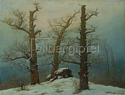 Caspar David Friedrich: Hünengrab im Schnee. 1810/1820