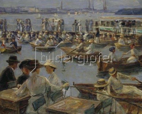Max Liebermann: An der Alster in Hamburg. 1910.