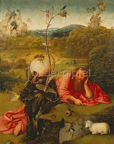 Hieronymus Bosch: Johannes der Täufer in der Wüste.