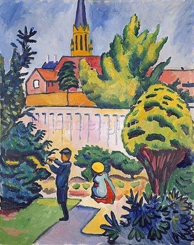 August Macke: Kinder im Garten. 1912.