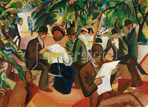 August Macke: Gartenrestaurant. 1912