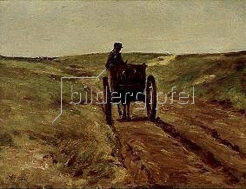 Max Liebermann: Karren in den Dünen. 1889.