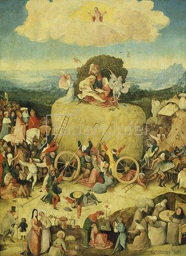Hieronymus Bosch: Triptychon Der Heuwagen. Mitteltafel.