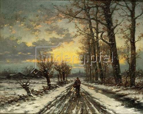 Ludwig Munthe: Wanderer im Morgengrauen.