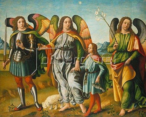 Francesco Botticini: Tobias und die drei Erzengel.