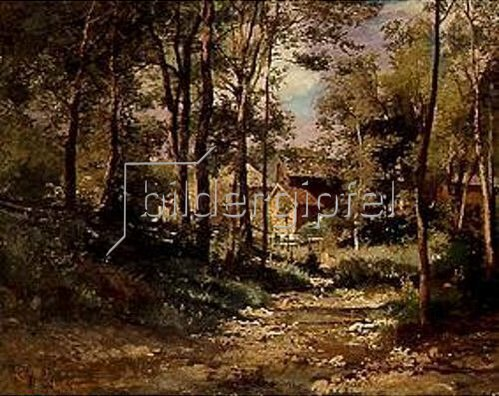 Joseph Wenglein: Die Eichmühle bei Bad Tölz. 1880.