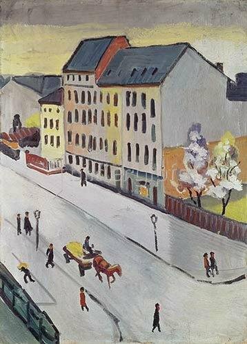 August Macke: Unsere Straße in Grau. 1911.