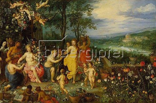 Jan Brueghel d.Ä.: Frühlings-Allegorie. 1616. (Zusammen mit Hendrick van Balen).