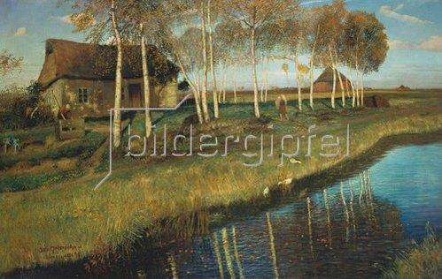 Otto Modersohn: Herbstmorgen am Moorkanal. 1895.