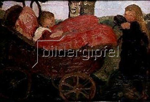 Paula Modersohn-Becker: Der Kinderwagen. 1904.