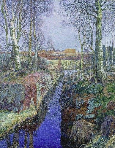 Heinrich Vogeler: Der Moorgraben. 1913.